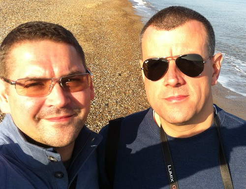 Richard and I on Dunwich Heath