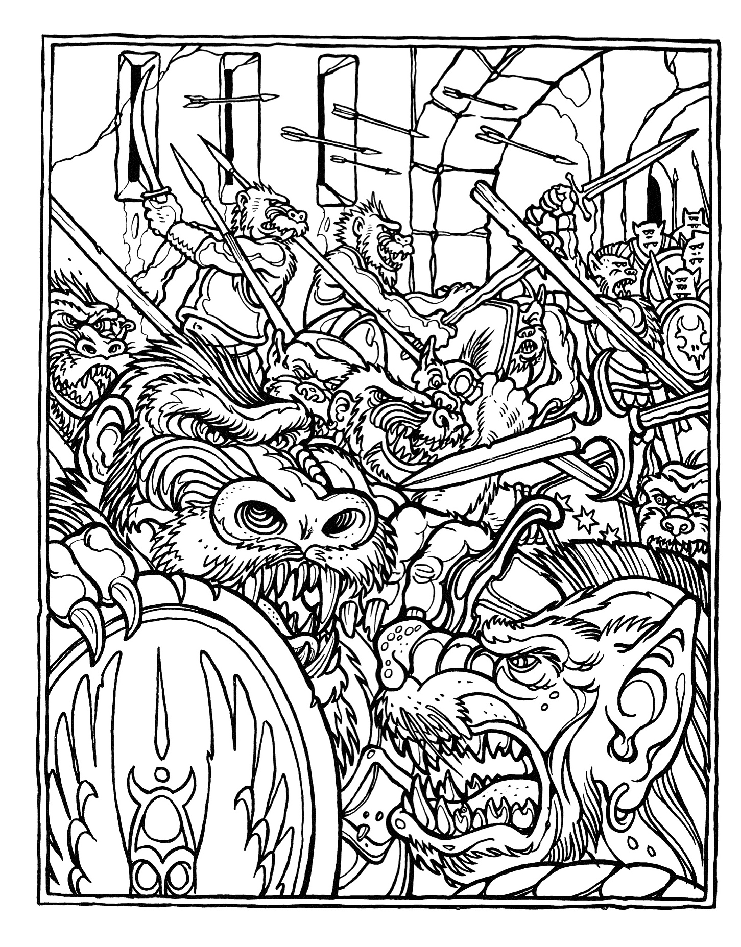 Download Advanced Coloring Pages : Monster brains the official advanced dungeons and dragons