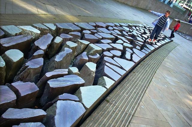 caminar como volar sobre las piedras --- walking on as flying over stones