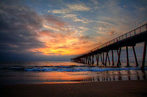 Sunset at Hermosa Beach Pier