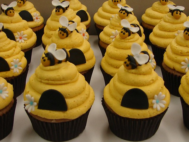 how to make bumble bee cupcakes