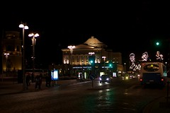 Tampere Theater at night