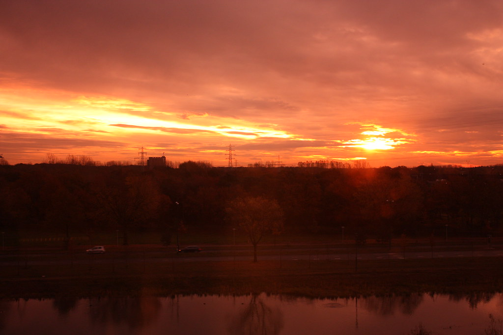 Sunrise from HTC in Eindhoven