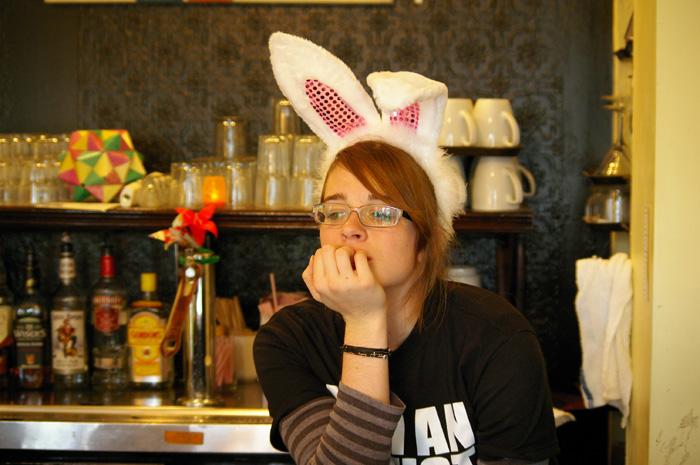 pensive bunny