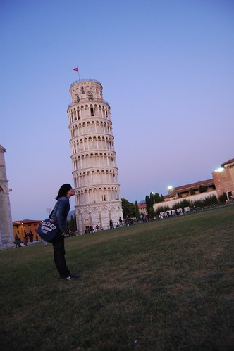 Tirando la Torre de Pisa con un beso