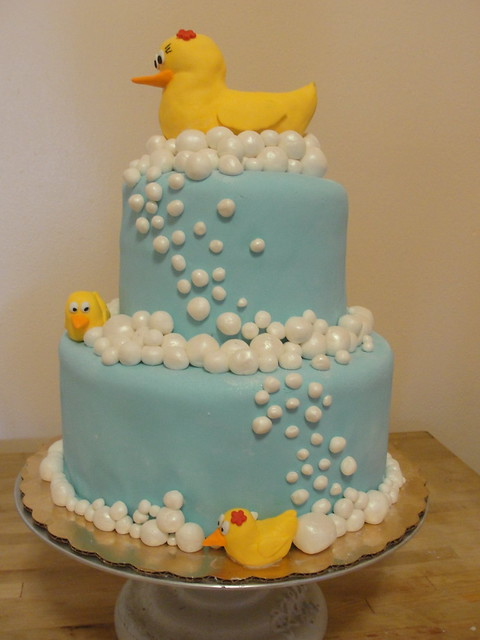 Rubber Duck Baby Shower Cakes http://www.flickr.com/photos/goodieboxbakeshop/6332453372/