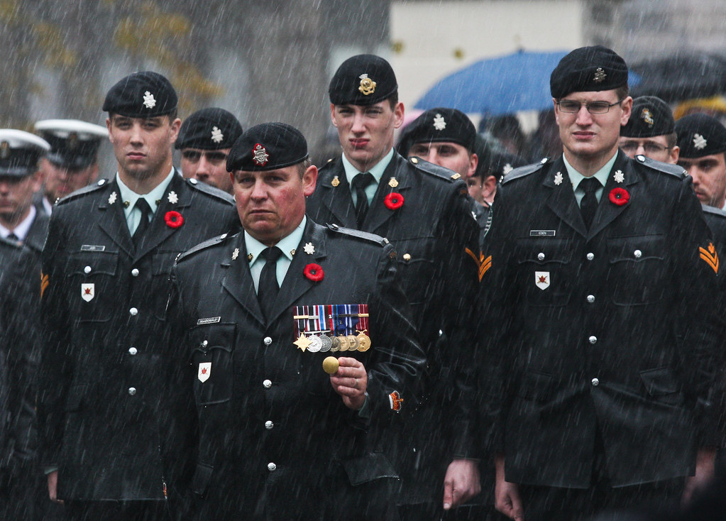 Remembrance day in Halifax. Nov 11, 2011.
