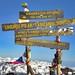 Uhuru Peak, toppen av Kilimanjaro