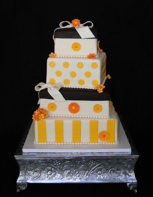Gift box wedding cake www.cakesbyelisa.com Facebook Cakes ...