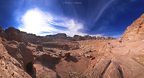 sunset sky panorama orange tourism architecture clouds fire photography ancient tour exterior photos roman petra columns jordan syria damascus abdulhameed shamandour
