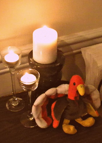 turkey and candle