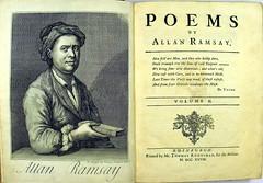 Allan Ramsay's 'Poems' (Edinburgh: 1721). BD16-b.13-14