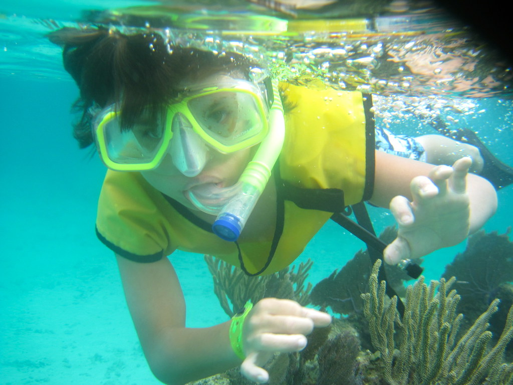 snorkeling at the reef second largest barrier reef in the world roatan honduras kid activity