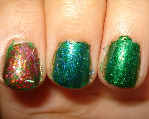 Zoya glitter over Holly
