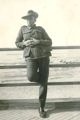 Sid Ey relaxing whilst on leave in Haifa, Palestine in 1941.