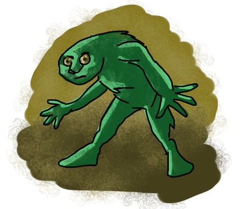 Ptw Green dude doodle