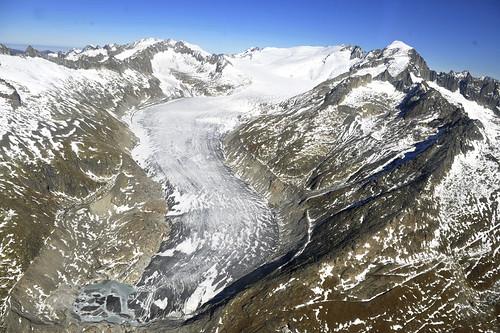 Aerial View of Switzerland's Fast-Decreasing Glaciers
