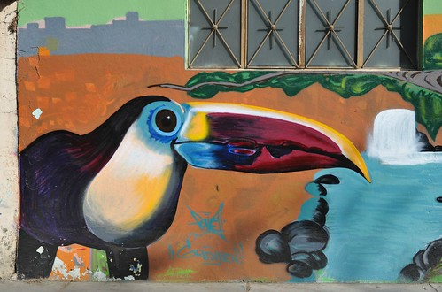 Toucan Wall Painting Mexico