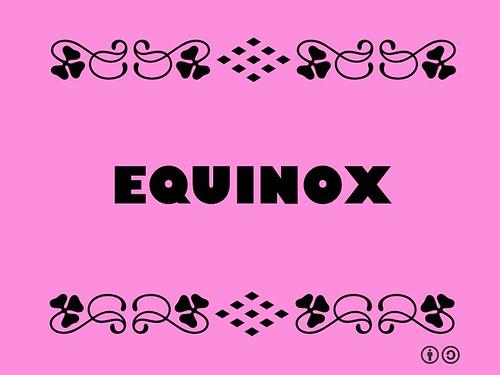Buzzword Bingo: Equinox