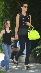 Kate Beckinsale Neon Handbag Celebrity Style Fashion