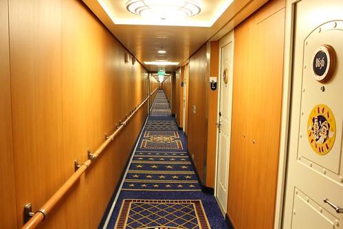 Stateroom Hallway - Disney Fantasy