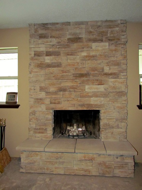 making a great room resurfacing the fireplace part 2. Black Bedroom Furniture Sets. Home Design Ideas