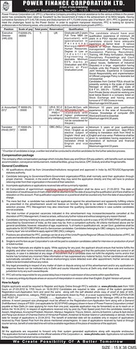 power finance corporation recruitment march 2012