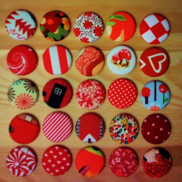A red button collection
