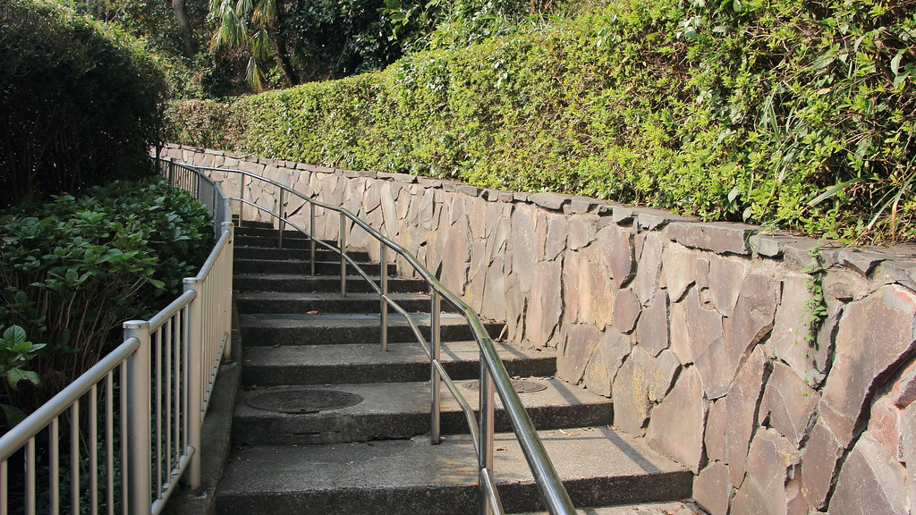 ちひろを撮った階段