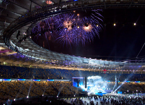 Fireworks on NSK Olimpicstadium