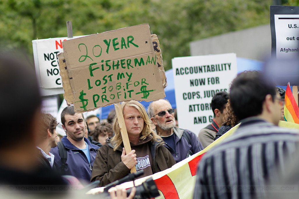 occupy seattle - 20 yr fisherman