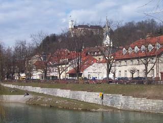 Orillas del río de Ljubljana