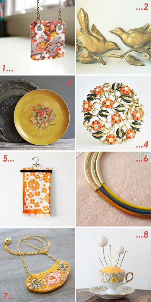 etsy favourites : autumn gold - curated by Emma Lamb