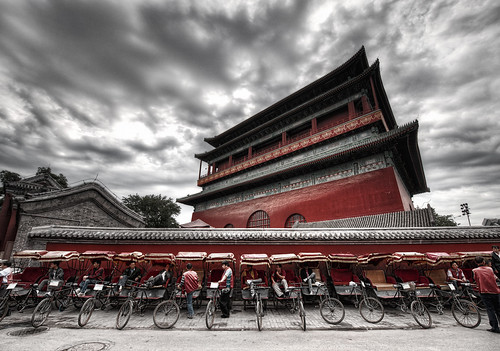 Rickshaws at the Drum Tower