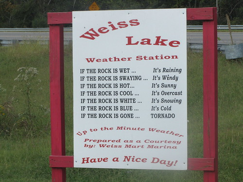 Weather station at Weiss Lake in Alabama