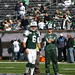 Small photo of New York Jets Quarterback Mark Sanchez Warms Up