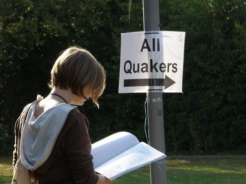All Quakers this way...