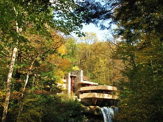 Fallingwater PA - forest framed version