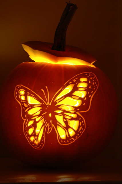 Butterfly Pumpkin Carving 1 A Butterfly Design Carved