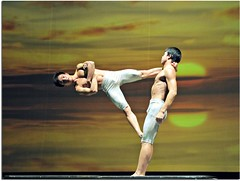 Acrobatic manoeuvers by the Shanghai Acrobatic Troupe, Shanghai by seems33