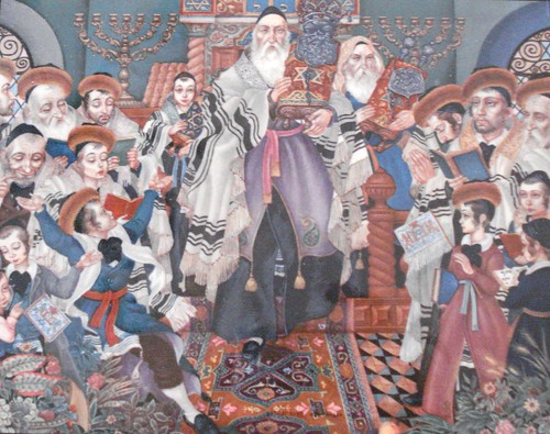 Simchat Torah by in pastel
