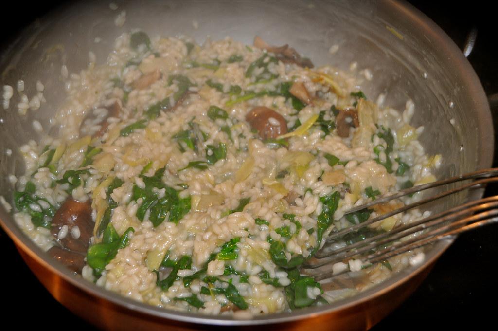 Spinach Artichoke Risotto