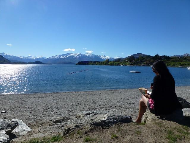 Reading time by Lake Wanaka