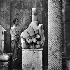 Cy Twombley, Relics, Rome, 1952, by Robert Rauschenberg