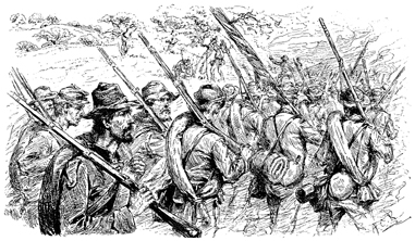 Illustration of Confederate Soldiers at Sailor's Creek