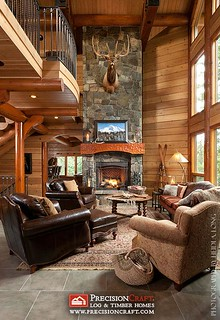 Great Room View | Custom Log Home by PrecisionCraft Log Homes