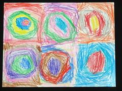 Peelu's crayon Kandinsky's Circles