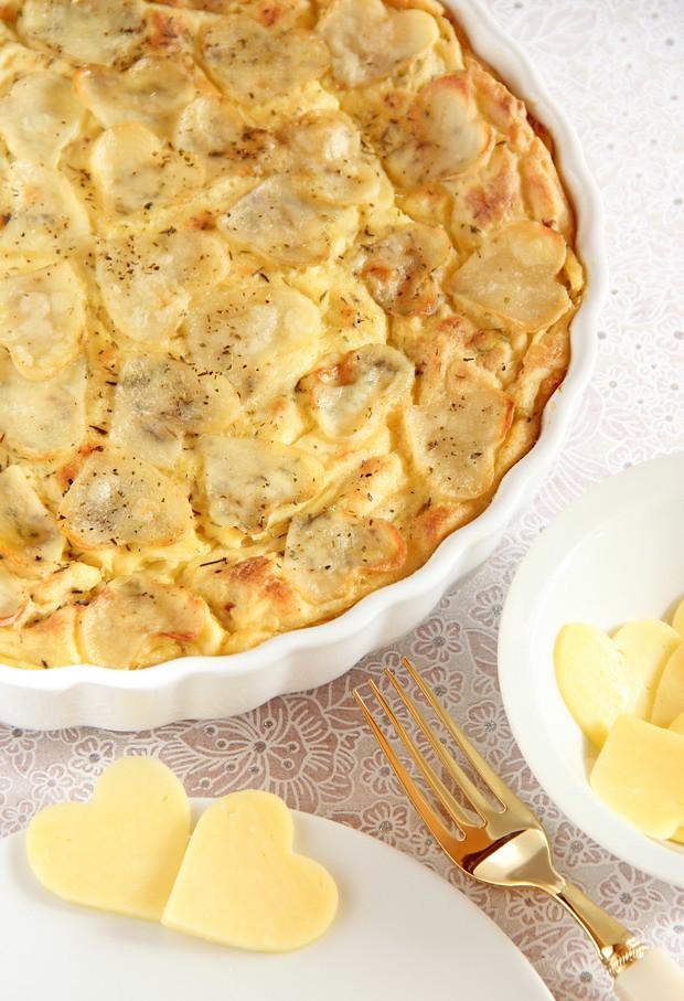Pur gratinado y enriquecido de patatas y coliflor - Gratinado de patata ...
