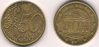 German 50 euro cent 2002