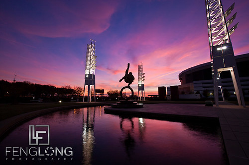 Sunset over the Olympic Village in Atlanta